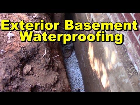 Basement waterproofing exterior how to waterproof - Waterproofing exterior basement walls ...