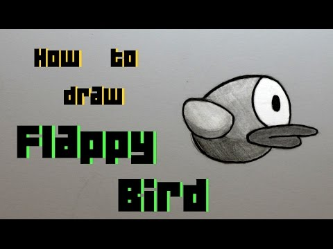 Ep. 155 How to draw Flappy Bird + Shout to the fans!! ( Update )