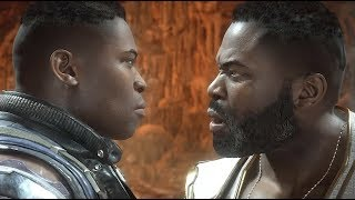 Jax Knocks Out His Future Self - Mortal Kombat 11 Story