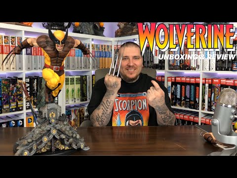 WOLVERINE (Brown Suit) By XM Studios Statue Unboxing & Review | X-Men