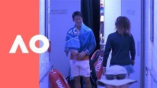 Nishikori and Osaka meeting up between their matches | Australian Open 2019