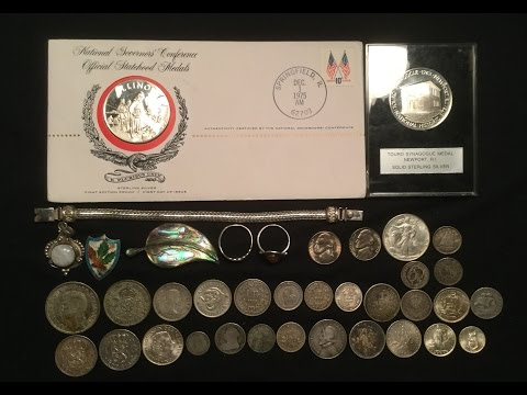 Vintage Silver Rounds, Vintage Jewelry, More Foreign Silver Coins & U.S. Coins!