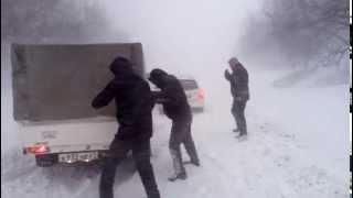 Комсомольск-на-Амуре. Метель 2.12.2014
