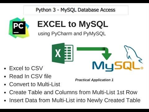 06 Python 3 MySQL Database Access - Excel to MySQL
