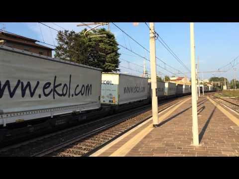 Tec RTC E 189 027/E 189-927 con merci trailer ekol per Trieste  a Altavilla vicentina