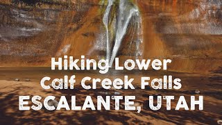 Hiking Lower Calf Creek Falls, Escalente