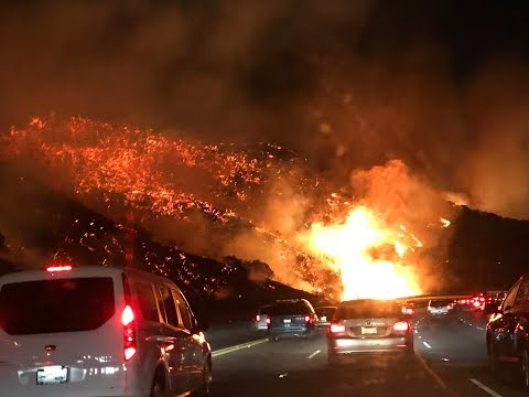 California wildfires Hell on Earth Skirball Fire Los Angeles Burns!