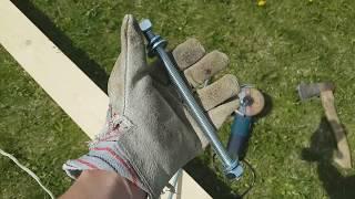 Каркасный дом 6 на 6 своими руками ч.1 (свайный фундамент и обвязка из бруса)(Внимание! Это ни в коем случае не инструкция