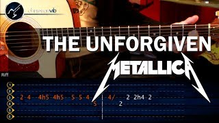 Como tocar The Unforgiven - METALLICA - en guitarra acustica (HD) Tutorial