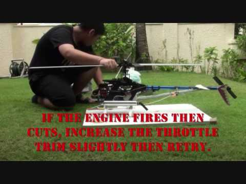 HOW TO START a nitro helicopter.