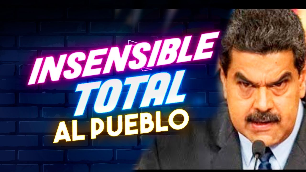 🪀 INSENSIBLE al Pueblo Venezuela, Nicolas Maduro no hace NADA, CR¡SIS Electrica Aumenta! 🪀