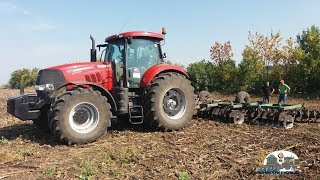 Case Puma 210 disking and sowing *trailer* ,дискуем и сеем*трейлер*