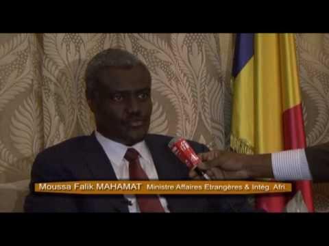 Interview de Moussa Faki Mahamat à l'Ambassade du Tchad à Paris le 21/03/2013