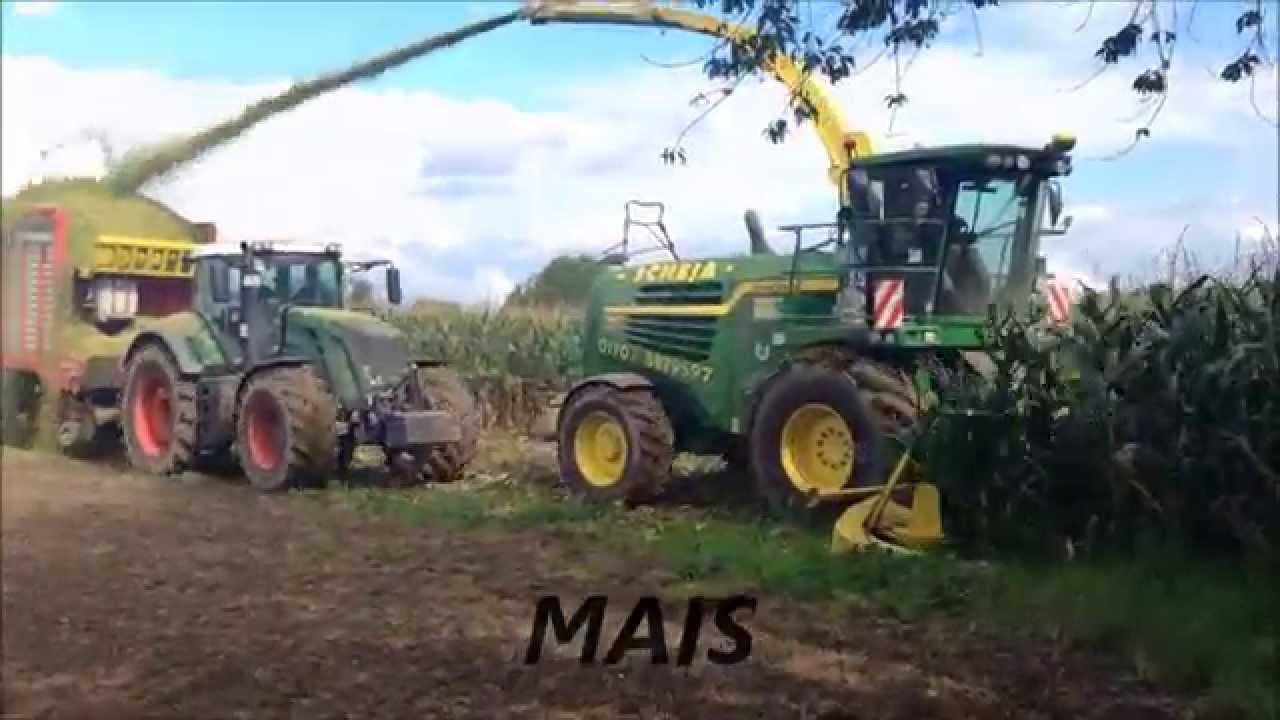 Mais Hckslen mit Fendt Traktoren und John Deere Hcksler  YouTube