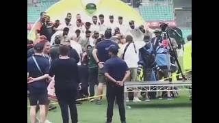 Indian Team Trophy  Moment Against Australia