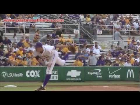 Kevin Gausman Slow Motion Pitching Mechanics - Baseball Baltimore Orioles MLB Tips Drills LSU