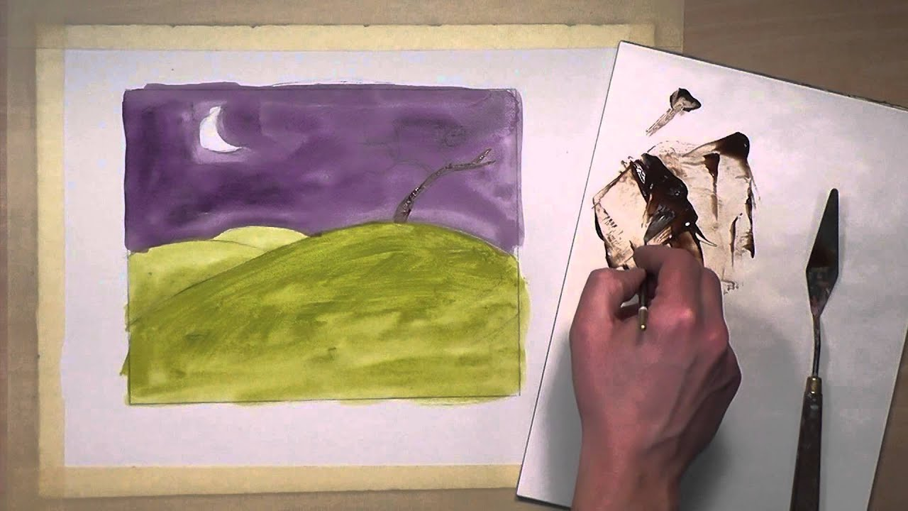 Drawing Straight Lines With Brush In Photo : How to paint thin lines with acrylics youtube