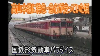【蔵出し走行動画】高山本線に特急・急行が走っていた1990