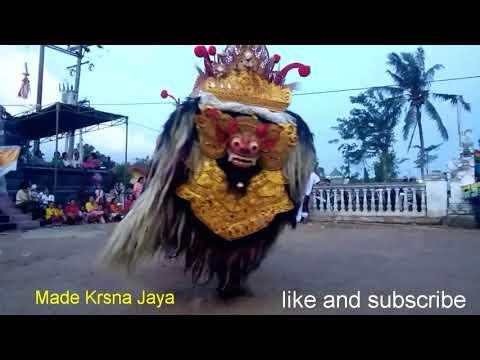 Ngeri!!Barong vs Rangda ngamuk saat mesolah,Raman utara Lampung Part 1