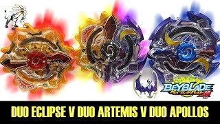 B-00 DUO ECLIPSE V DUO ARTEMIS V DUO APOLLOS! BEYBLADE BURST GOD BATTLE