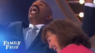 Heaven is right between my... | Family Feud