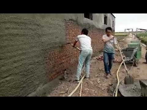 the video of spray plaster machine