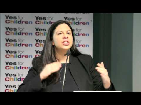 Tanya Ward speaks about the Children's Referendum at CRA Members' Meeting