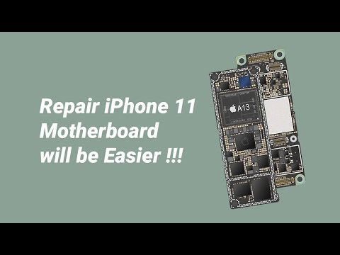 iPhone 11, A13 CPU Motherboard Introduction and Repairability