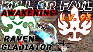 Dragon Nest PvP : Nice Combo Gladiator (Lollipop) v OP Raven Awakening KOF Lv. 93 KDN Spec Mode.