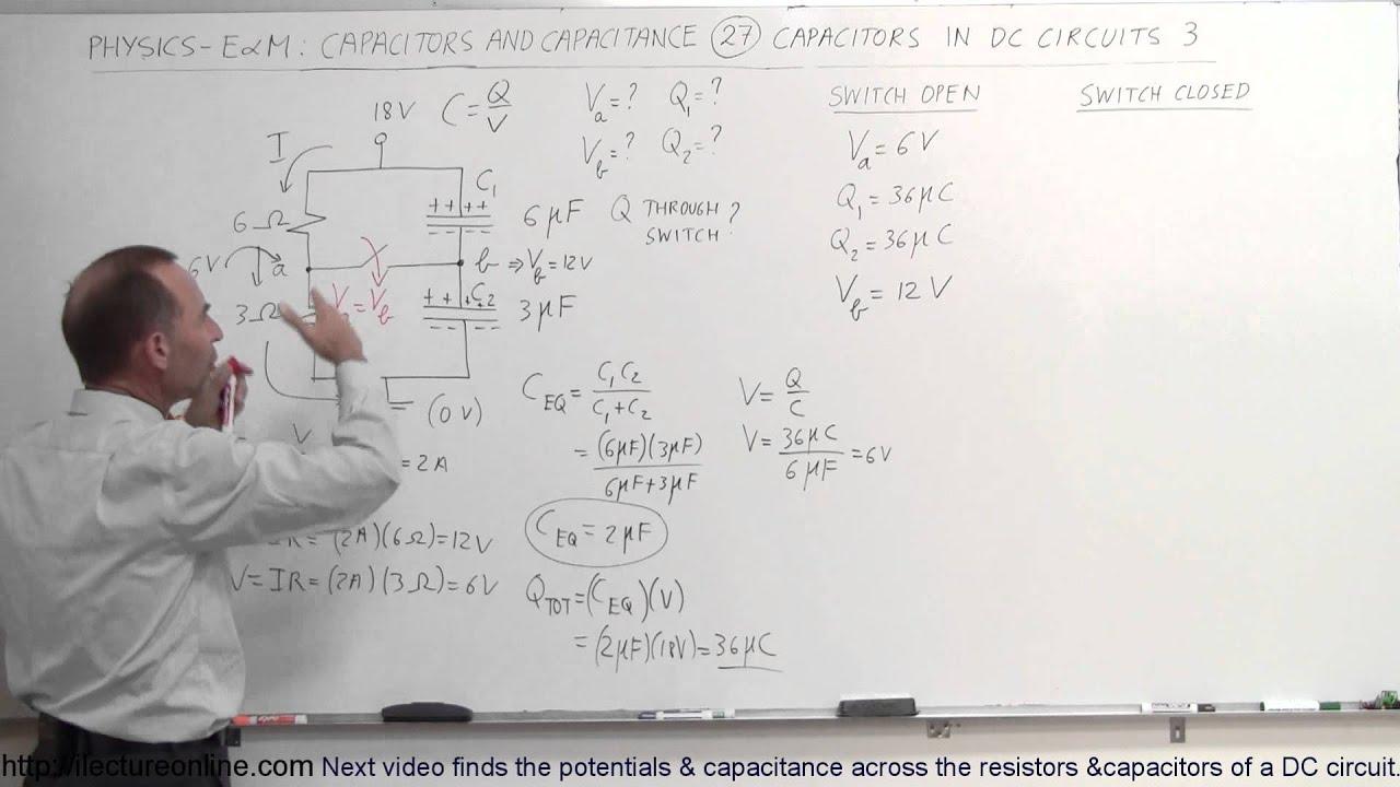 Physics - E&M: Capacitors & Capacitance (27 of 37) V=? C=? in DC ...