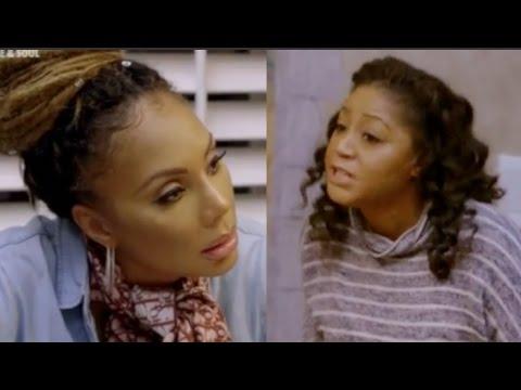 Tamar and Trina Braxton's explosive argument | Fight ...  Trina
