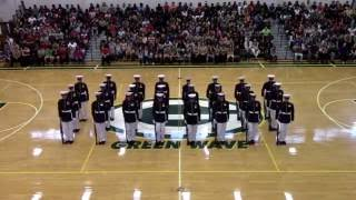 Silent Drill Platoon at Gallatin High School 2016