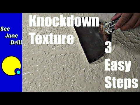 How To Do A Knockdown Texture In 3 Easy Steps