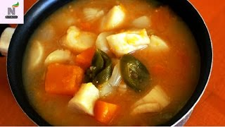 Ninas Cooking Corner - Fermented soybean paste stew with scallops Recipe