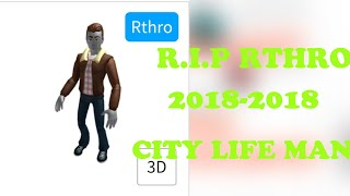 RTHRO HAS BEEN REMOVED ON ROBLOX? (CITY LIFE MAN) *NOT CLICKBAIT*