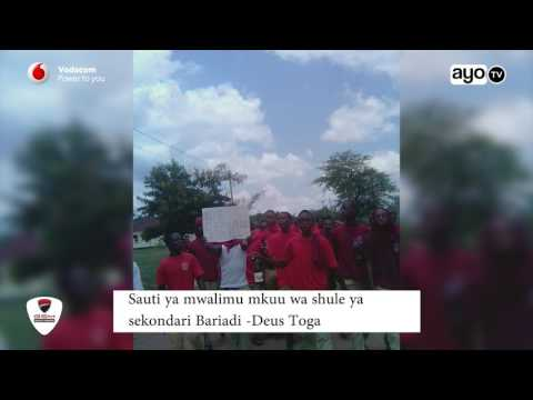 Mwalimu Mkuu Bariadi Sekondari kuhusu wanafunzi walioandamana ili asihamishwe