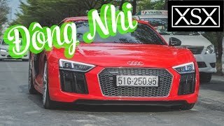 Đông Nhi cầm lái Audi R8 V10 Plus dạo phố | XSX