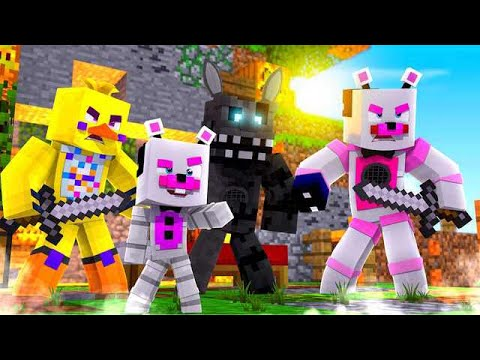 Epic Bed Wars With Chica, Twisted Wolf, and Helpy! Minecraft FNAF Roleplay