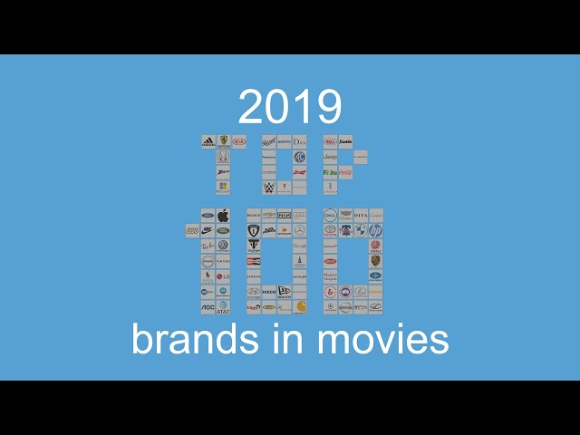 top 100 product placement brands in 2019 movies