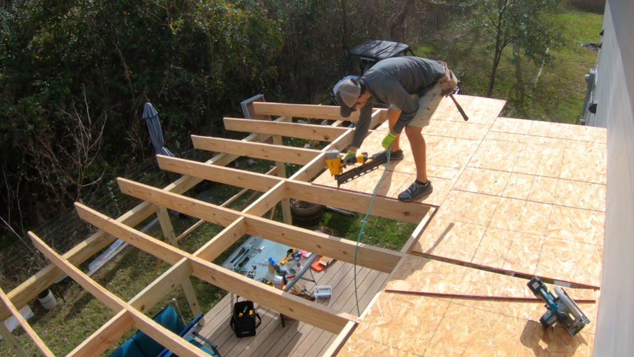 diy patio roof build