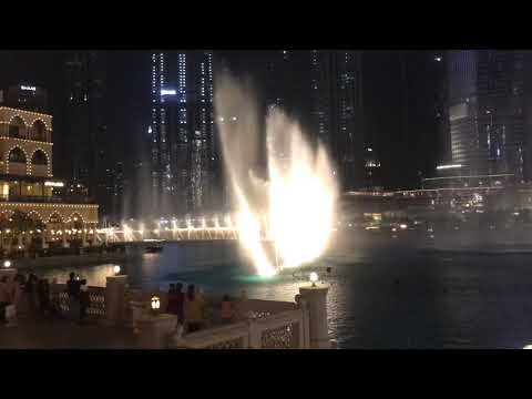 The beautiful Dubai Mall fountain