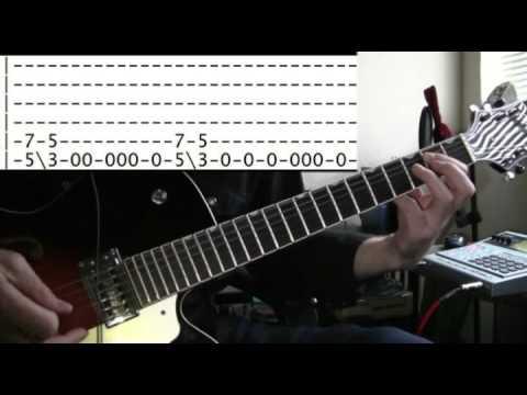 guitar lesson Rammstein du hast tab