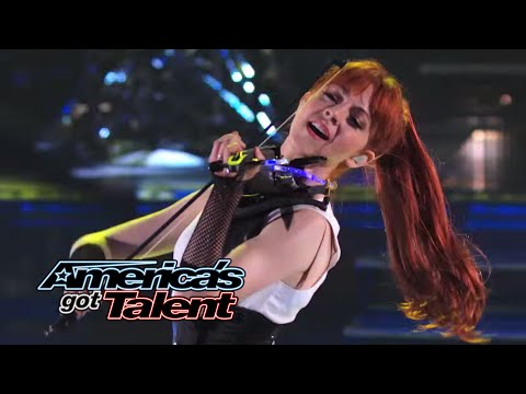 Lindsey Stirling: Former AGT Act Performs Shatter Me With Lzzy Hale  Americas Got Talent 2014