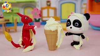 묘묘가 아기공룡 돌보기|뛰어나가 노는 아기공룡|장난감이야기|Kids Toys | Baby Doll Play | ToyBus