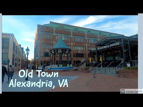 [4K] 🇺🇸 🎄 Old Town Alexandria, Virginia, USA - Christmas Walk Tour 🎧