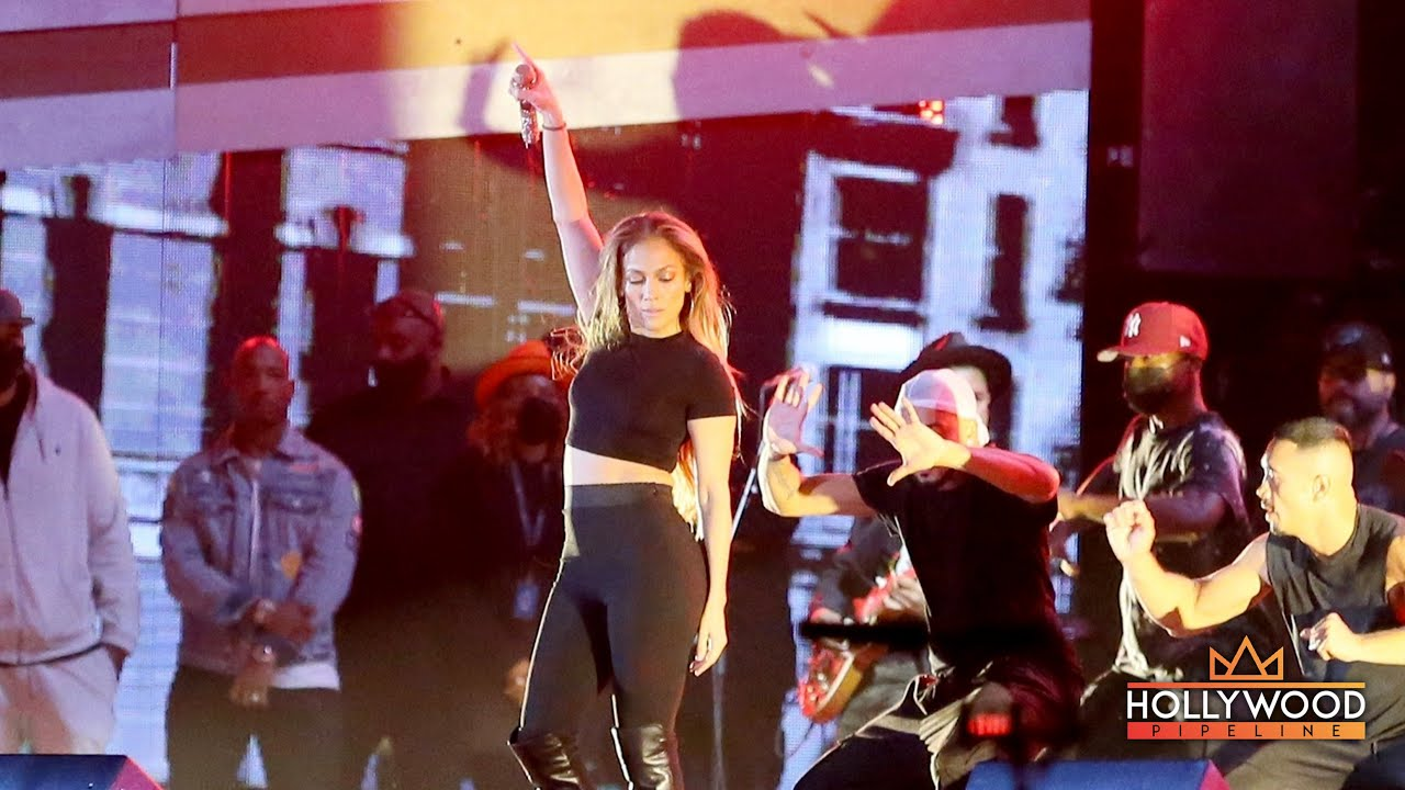 JLo performs at Global Citizen rehearsals in New York City