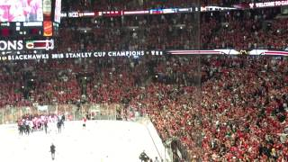06-15-2015. United Center, Chicago, IL. Hawks win the Cup!