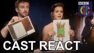 Beauty and the Beast cast react to fan art! | CBBC