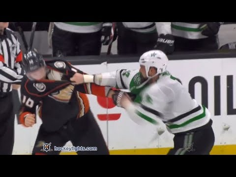 Jamie Benn vs Corey Perry Feb 21, 2018