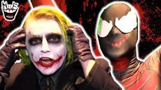 JOKER vs CARNAGE! Real Life Superhero Battle at Comic Con!